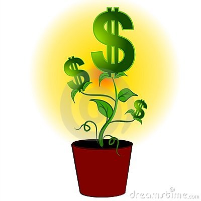 Free Dollar Signs Money Plant Tree Royalty Free Stock Photography - 2807087