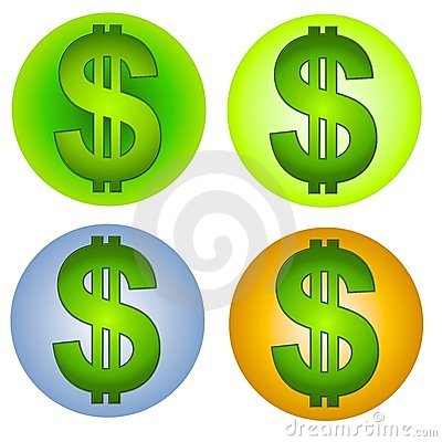 Dollar Signs Money Web Icons