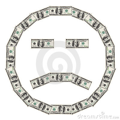 Dollar Smiley sad