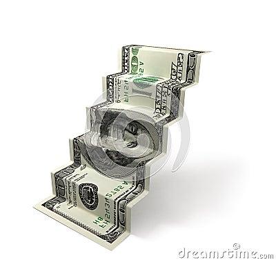 Dollar stair