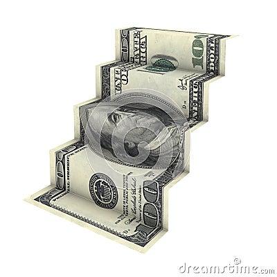 Dollar staircase