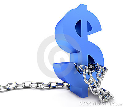 Dollar symbol in chains