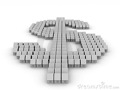 Dollar symbol created by small home