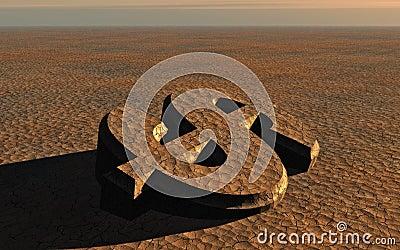 Dollar Symbol Desolation
