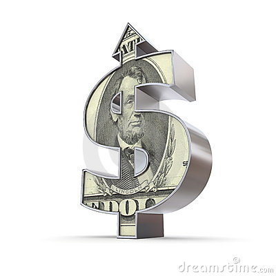 Dollar-Symbol-Pfeil oben - Dollar-Strukturiert