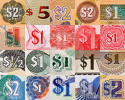 Dollar symbols from all over the world