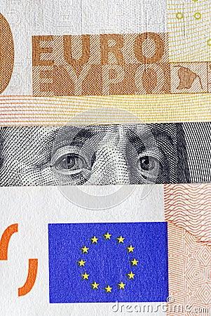 Dollar under euro