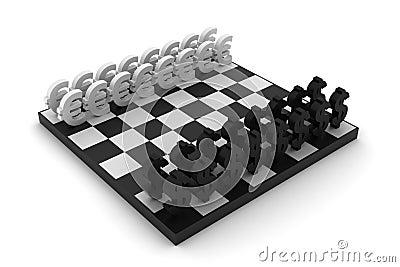Dollar vs Euro chess