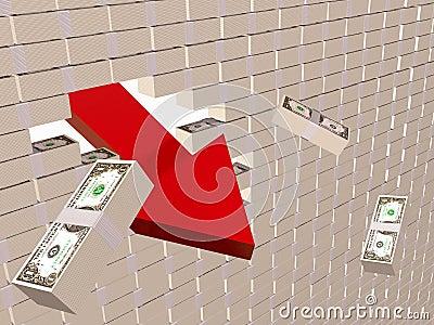Dollar wall
