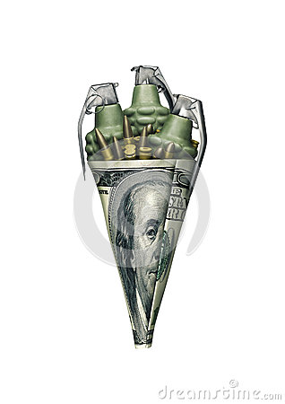 Free Dollar War Cone Stock Photography - 67361992