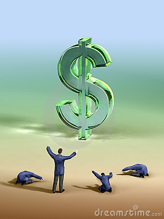 Dollar Worship Royalty Free Stock Photo Image 6399555