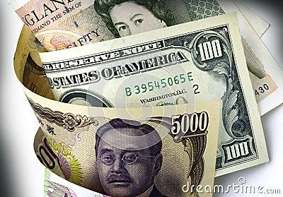 Dollar, Yen and Pound