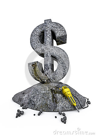 Dollaro del lavoro in pietra