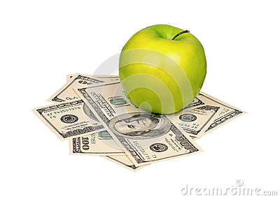 Dollars and apple