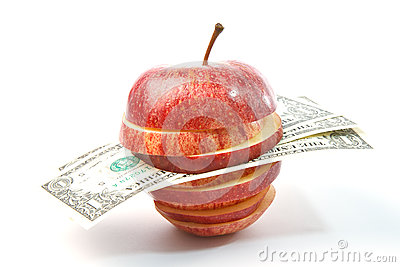 Dollars in apple