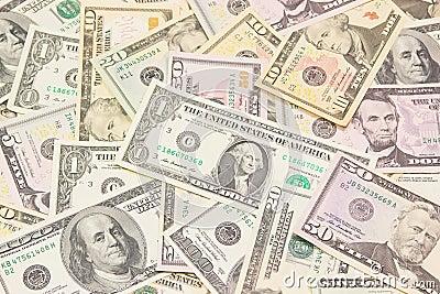 Dollars background. High resolution texture.