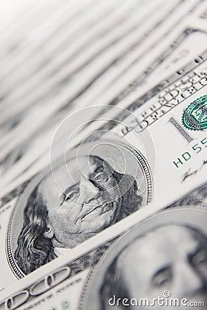 Dollars background made of hundred dollar bills