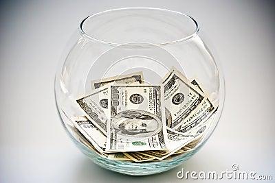 Dollars in a bottle