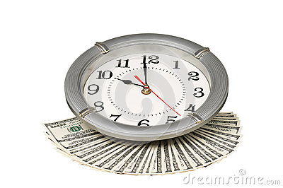 Dollars and clock