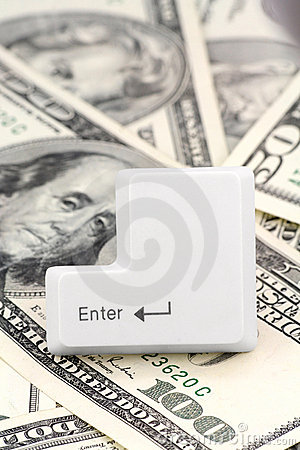 Dollars and a enter key