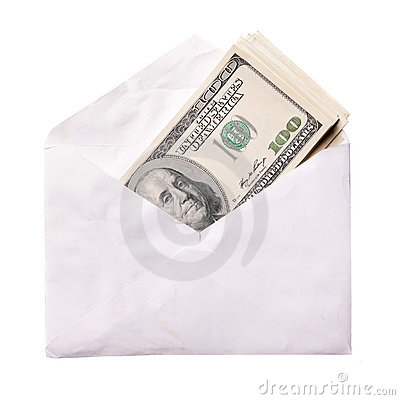 Dollars in envelope
