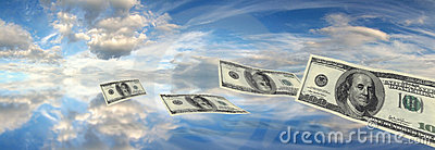 Dollars falling sky