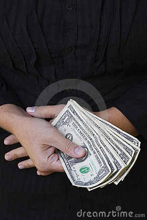 Dollars in hands