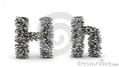 Dollars   letter H