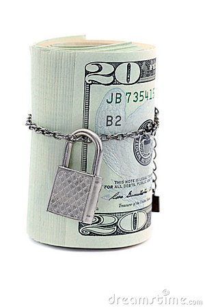 Dollars with a lock