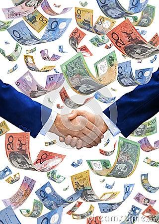 Dollars Money Hand Handshake Superanuation