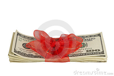 Dollars with Ribbon