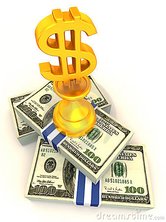 Free Dollars. Sign Royalty Free Stock Images - 4385029