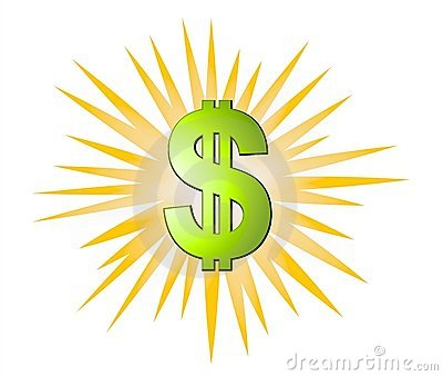 Dollars Signs Cash Explosion