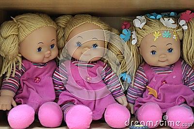 Pink dolls