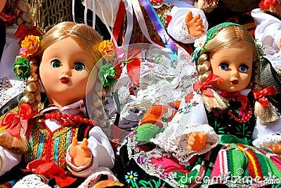 Dolls in folk costumes