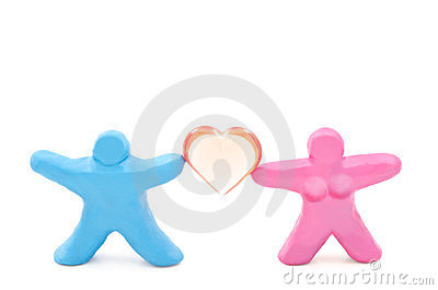 Dolls Support The Heart Stock Images - Image: 24223374