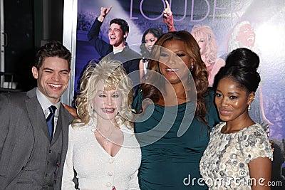 Dolly Parton, Jeremy Jordan, Keke Palmer, Latifah, Queen, Queen Latifah Editorial Photo