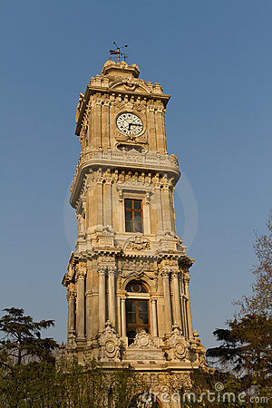 Free Dolmabahce Clock Tower Stock Image - 20541641
