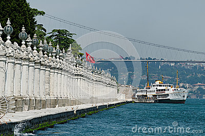 Dolmabahce Palace shore
