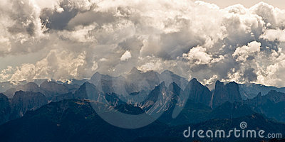 Dolomite Alps in Italy