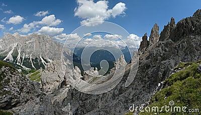 Dolomite mountain landscape