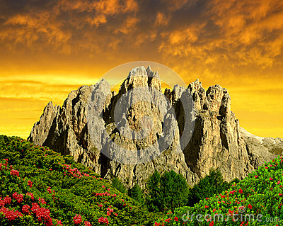 Dolomite peaks, Rosengarten