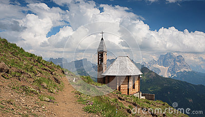 Dolomites, Col di Lana and chapel