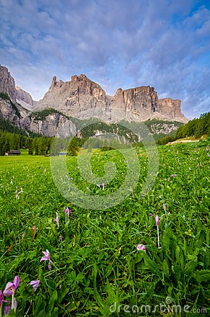 Free Dolomites During Sunrise, Italy Stock Image - 103887481