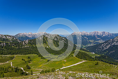 Dolomites mountain in summer