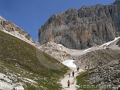 Dolomites mountains, Alps in Italy Editorial Stock Photo