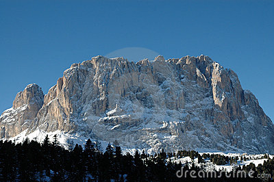 Dolomites in wintertime