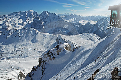 Dolomities, Dolomiti - Italy in wintertime
