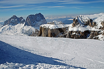 Dolomities, Dolomiti - Italy in wintertime