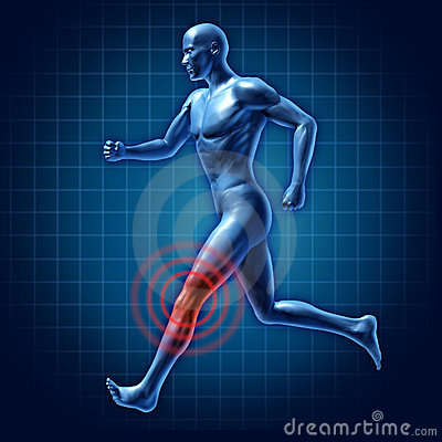 Dolore unito del ginocchio del corridore umano di terapia medico